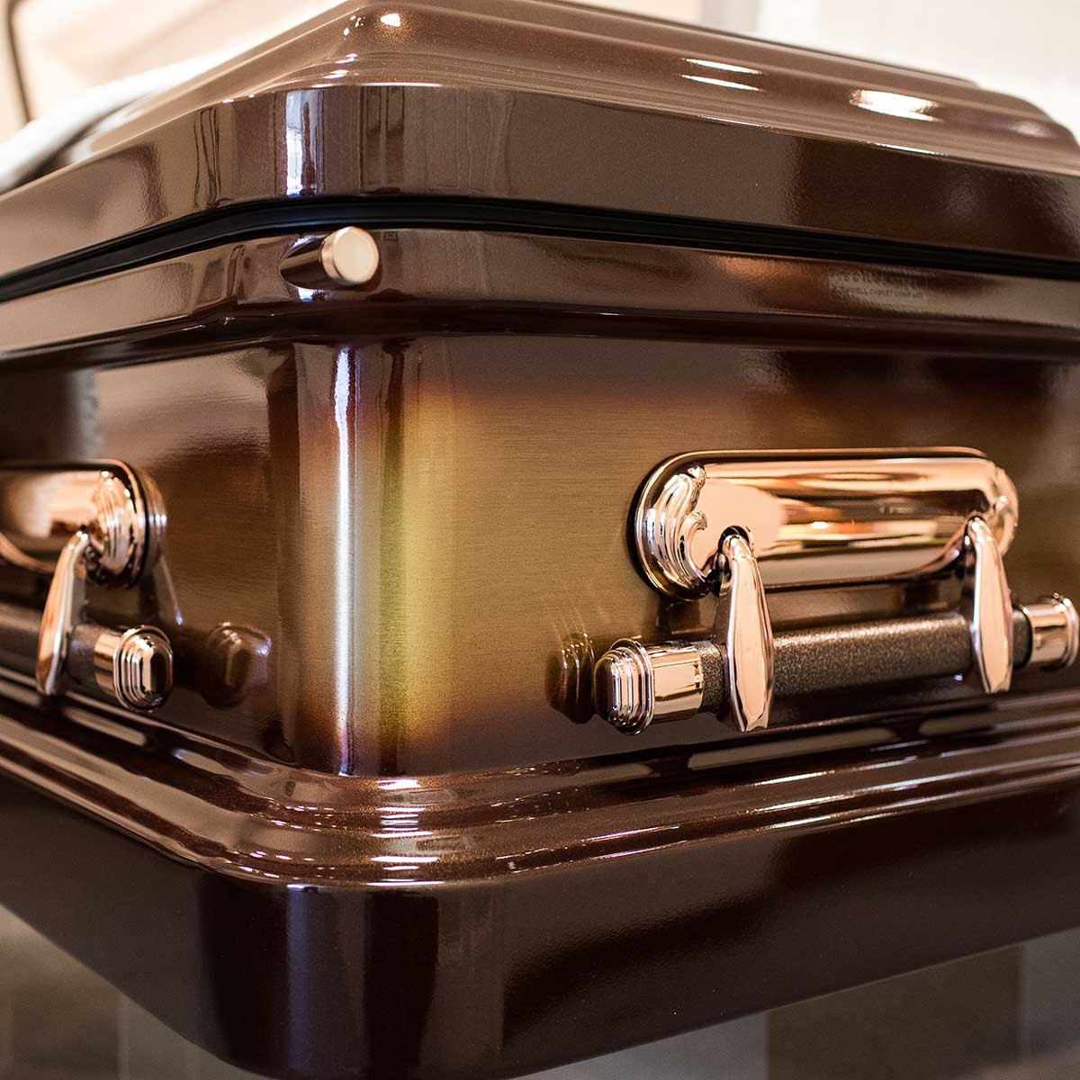 Bronze casket details Kriegshauser Brothers