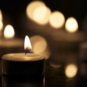 Lighted candles funeral and cremation options at Kriegshauser Brothers