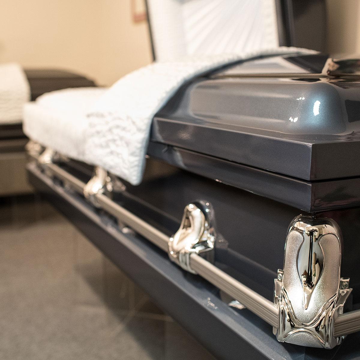 Steel casket funeral services options