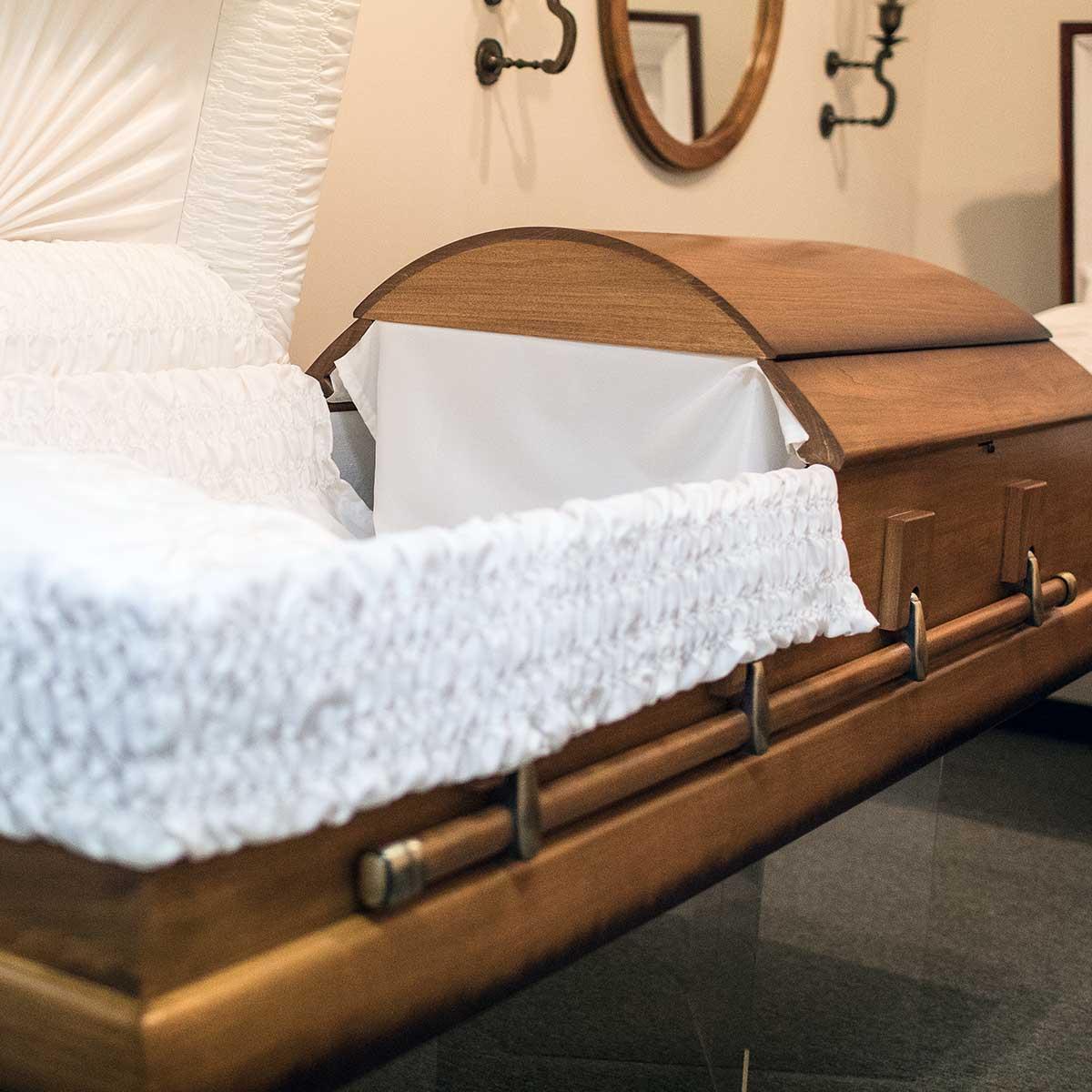 Wooden casket funeral services options